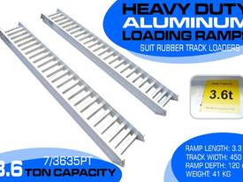 3.6 Ton Aluminum Loading Ramps suit rubber tracks