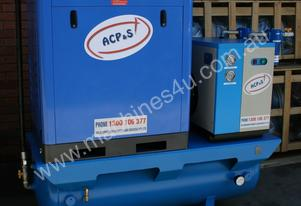 German Screw  - 15hp / 11kW Rotary Air Compressor with 450 Litre Tank, Dryer and Oil Removal Filters