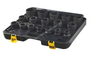 A86603 - 17 PC 3/4\ SQ. DR. 6PT IMPACT SOCKET SET SAE