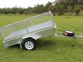 8X5 GALVANISED TIPPING BOX TRAILER WITH FREE CAGE