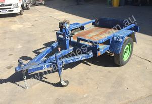 SINGLE AXLE TILTING PLANT TRAILER, SUIT COMPACTOR