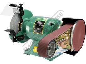 PLUS-8 Industrial Bench Grinder with Linisher Ø200mm Fine & Coarse Wheels & 50 x 915mm Linishing At - picture0' - Click to enlarge