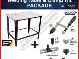 SRK-40P1 Welding Table with Square & Round Tube Clamp Kit 600 x 900 x 860mm (LxWxH) Includes 40 Piec - picture2' - Click to enlarge