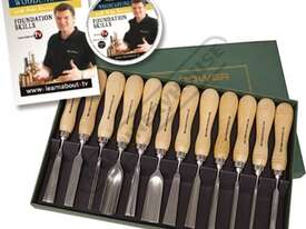 RPCV12A Special Edition Carving Tool Set with Bonus DVD and Booklet 12 Piece - picture0' - Click to enlarge