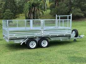 2018 Ozzi 14x7 Flat Top Tipper Trailer 3500kg - picture2' - Click to enlarge
