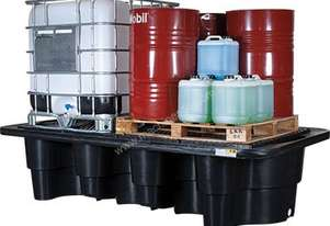 Drum Bunds & Spill Pallets. Double IBC containment bund – polyethylene