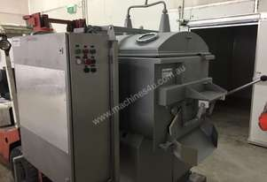 150kg Twin Shaft Mixer (Meat Industry) with Water Injection and Front Discharge.