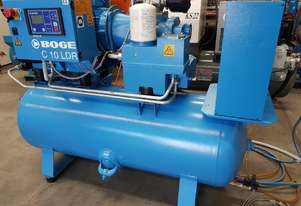 BOGE C10 LDR 7.5Kw 3-IN-1 PACKAGED SCREW COMPRESSOR 600 HOURS + PILOT/PULFORD SCREW COMPRESSORS