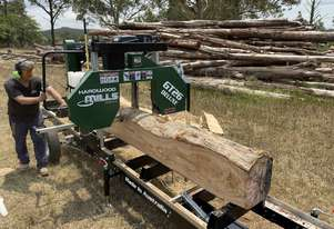 SAWMILLS - PORTABLE BAND SAW MILL -GT 26 Deluxe NEW DESIGN fits bigger log