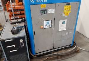 PILOT DCR 37 DIRECT DRIVE 37Kw SCREW COMPRESSOR 11,000 Hrs SAVE $ 20k / DRYER fr $3,750. Also PS 37
