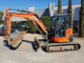 USED KUBOTA U55-4 EXCAVATOR WITH FULL A/C CABIN, QUICK HITCH, 4 BUCKETS, RUBBER TRACKS AND 4036 HOUR - picture1' - Click to enlarge
