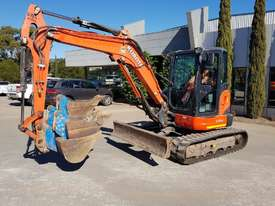 USED KUBOTA U55-4 EXCAVATOR WITH FULL A/C CABIN, QUICK HITCH, 4 BUCKETS, RUBBER TRACKS AND 4036 HOUR - picture2' - Click to enlarge