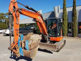 USED KUBOTA U55-4 EXCAVATOR WITH FULL A/C CABIN, QUICK HITCH, 4 BUCKETS, RUBBER TRACKS AND 4036 HOUR - picture3' - Click to enlarge