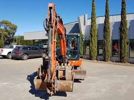 USED KUBOTA U55-4 EXCAVATOR WITH FULL A/C CABIN, QUICK HITCH, 4 BUCKETS, RUBBER TRACKS AND 4036 HOUR - picture4' - Click to enlarge