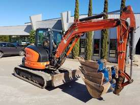 USED KUBOTA U55-4 EXCAVATOR WITH FULL A/C CABIN, QUICK HITCH, 4 BUCKETS, RUBBER TRACKS AND 4036 HOUR - picture6' - Click to enlarge
