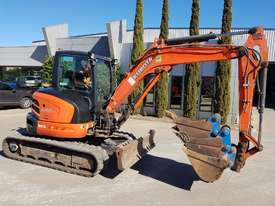 USED KUBOTA U55-4 EXCAVATOR WITH FULL A/C CABIN, QUICK HITCH, 4 BUCKETS, RUBBER TRACKS AND 4036 HOUR - picture7' - Click to enlarge