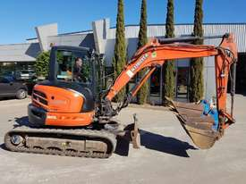 USED KUBOTA U55-4 EXCAVATOR WITH FULL A/C CABIN, QUICK HITCH, 4 BUCKETS, RUBBER TRACKS AND 4036 HOUR - picture8' - Click to enlarge