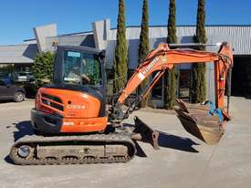 USED KUBOTA U55-4 EXCAVATOR WITH FULL A/C CABIN, QUICK HITCH, 4 BUCKETS, RUBBER TRACKS AND 4036 HOUR - picture9' - Click to enlarge
