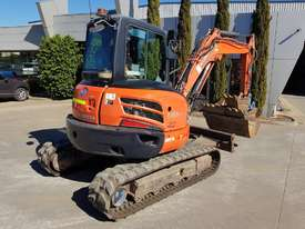 USED KUBOTA U55-4 EXCAVATOR WITH FULL A/C CABIN, QUICK HITCH, 4 BUCKETS, RUBBER TRACKS AND 4036 HOUR - picture10' - Click to enlarge