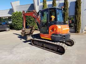 USED KUBOTA U55-4 EXCAVATOR WITH FULL A/C CABIN, QUICK HITCH, 4 BUCKETS, RUBBER TRACKS AND 4036 HOUR - picture13' - Click to enlarge