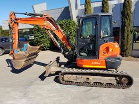 USED KUBOTA U55-4 EXCAVATOR WITH FULL A/C CABIN, QUICK HITCH, 4 BUCKETS, RUBBER TRACKS AND 4036 HOUR - picture14' - Click to enlarge