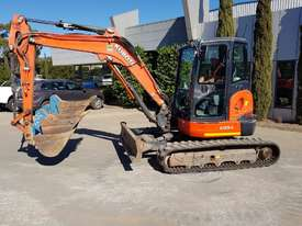 USED KUBOTA U55-4 EXCAVATOR WITH FULL A/C CABIN, QUICK HITCH, 4 BUCKETS, RUBBER TRACKS AND 4036 HOUR - picture15' - Click to enlarge