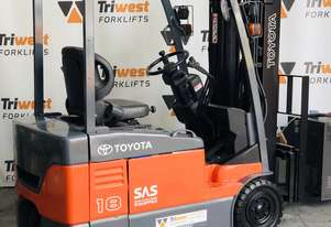 TOYOTA 1.8 TONNE 3 WHEEL ELECTRIC FORKLIFT