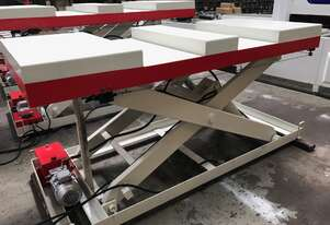 RHINO HEAVY DUTY 2 T SCISSOR LIFT TABLE 2400 X 1000mm with FORK LIFT ACCESS *IN STOCK*