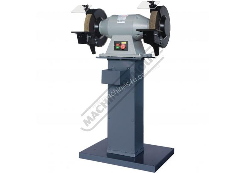 BG-12 Industrial Pedestal Grinder Ø305mm Fine & Coarse Wheels 1.5kW - 2HP Motor Power
