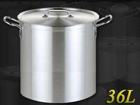 36L COMMERCIAL STAINLESS STEEL STOCK POT