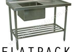 Alphaline XS1-60150L Stainless Steel Sink Bench 1500 x 600 Left Bowl