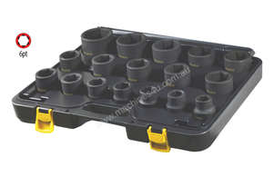 16 PC 1/2\ SQ. DR. 6PT DEEP IMPACT SOCKET SET METR