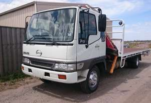 HINO 2000 FD2J Crane Truck with 6m Tray