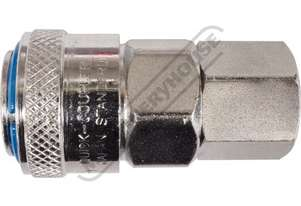 Female Coupling High-Flow One Touch System Air Fittings 1/4