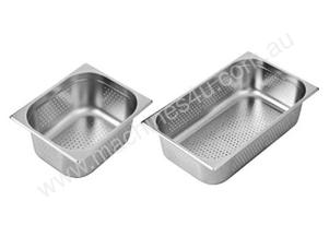 F.E.D. P11065 Australian Style 1/1 GN x 65 mm Perforated Gastronorm Pan