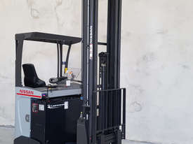 Reach Truck 7m Lift Height Nissan UMS Low Hours Battery Electric - picture0' - Click to enlarge