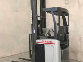 Reach Truck 7m Lift Height Nissan UMS Low Hours Battery Electric - picture1' - Click to enlarge