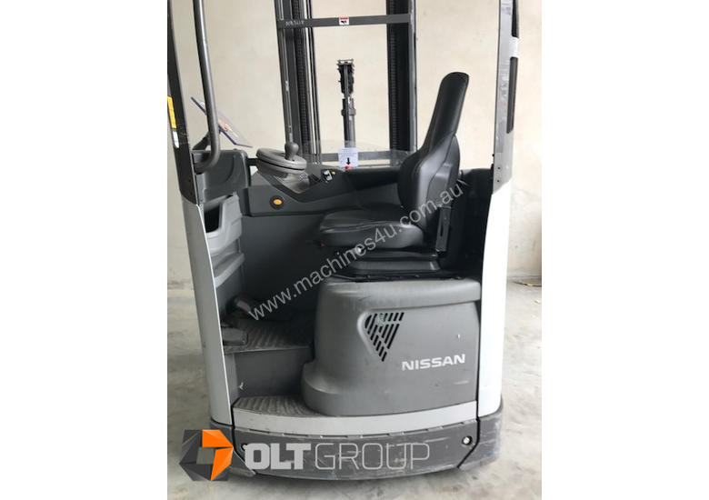 Reach Truck 7m Lift Height Nissan UMS Low Hours Battery Electric