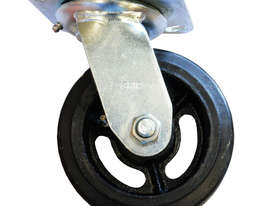 42085 - RUBBER MOULDED IRON WHEEL CASTOR(SWIVEL) - picture0' - Click to enlarge