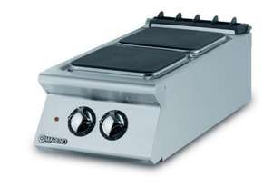 Mareno ANC9-4E Hob With 2 x 4 KW Square Hot Plates