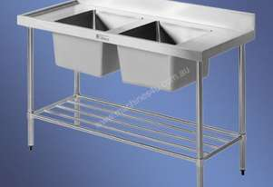Simply Stainless - Double Sink Bench 700mm Deep