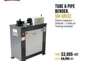 240 Volt - 32mm Capacity Bender With 3 Sets Tooling