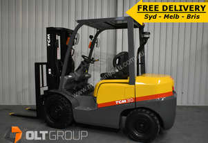 TCM 3 Tonne Diesel Forklift Low Hours Container Mast FREE DELIVERY SYD BRIS MELB