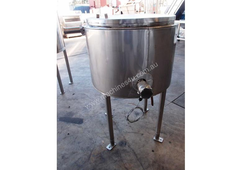 Stainless Steel Jacketed Tank, Capacity: 200Lt