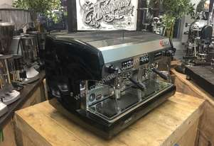 WEGA POLARIS 2 GROUP METALLIC BLACK ESPRESSO COFFEE MACHINE CAFE CART LATTE BAR