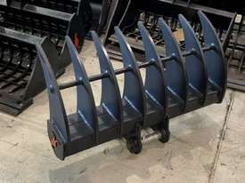 ROO ATTACHMENTS - STICK RAKE 1000MM WIDE TO SUIT 2.8 TO 3 TO 3.5 TON EXCAVATOR - picture3' - Click to enlarge