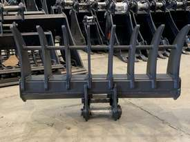 ROO ATTACHMENTS - STICK RAKE 1000MM WIDE TO SUIT 2.8 TO 3 TO 3.5 TON EXCAVATOR - picture4' - Click to enlarge