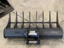 ROO ATTACHMENTS - STICK RAKE 1000MM WIDE TO SUIT 2.8 TO 3 TO 3.5 TON EXCAVATOR - picture7' - Click to enlarge