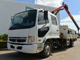 2009 MITSUBISHI FUSO FIGHTER Crane Truck Dual Cab Tray Top - picture0' - Click to enlarge