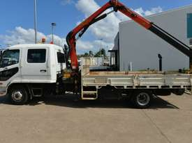 2009 MITSUBISHI FUSO FIGHTER Crane Truck Dual Cab Tray Top - picture1' - Click to enlarge